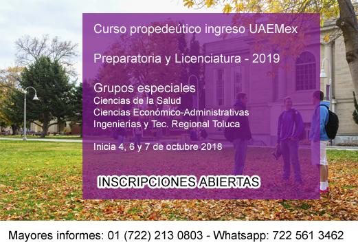 cursos ingreso uaemex 2019