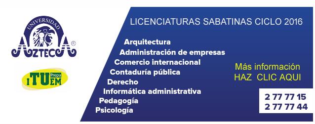 Universidad sabatina en el estado de mexico blse for Licenciaturas sabatinas